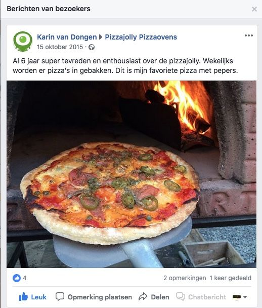 klanten over PIZZAJOLLY pizzaoven